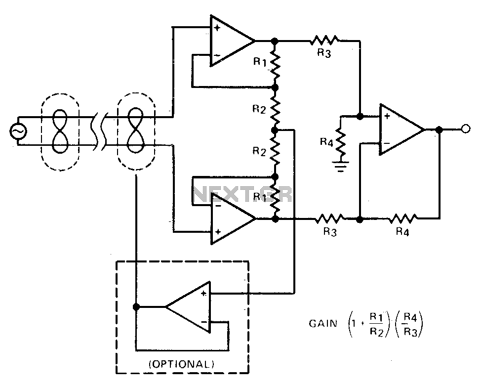Instrumentation amplifier - schematic