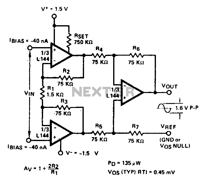 Quick view of Instrumentation amplifier