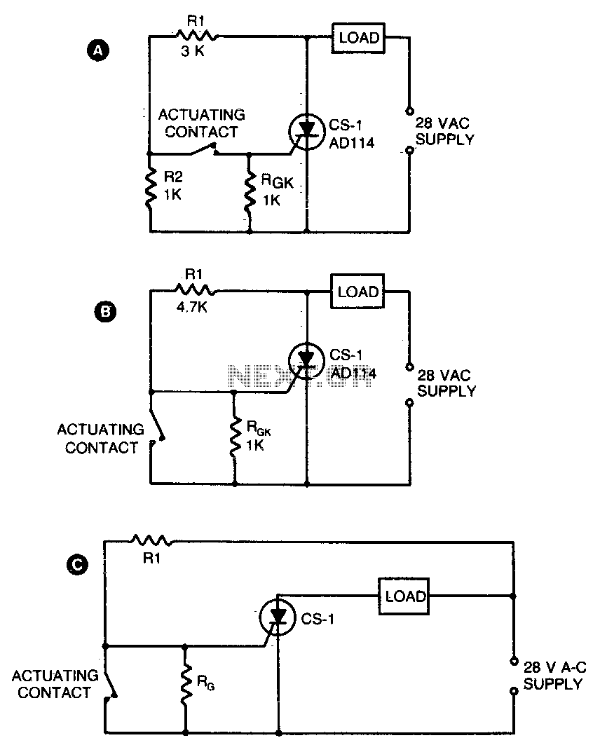 High power control for sensitive contacts - schematic
