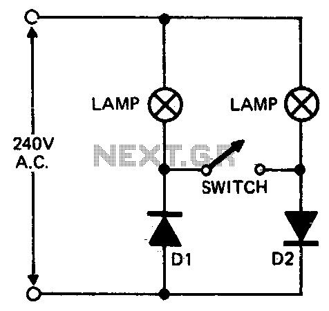 Floodlamp power control - schematic