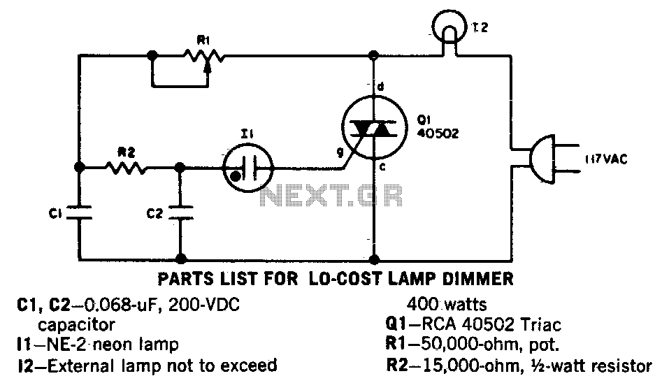 Low cost lamp dimmer