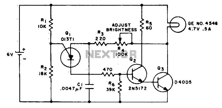 Low loss brightness control - schematic