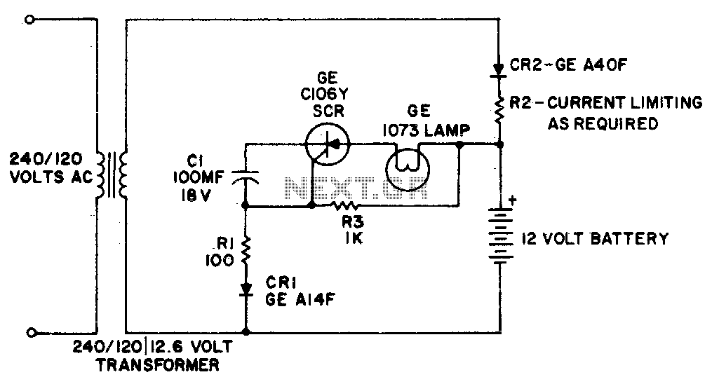 Emergency light - schematic