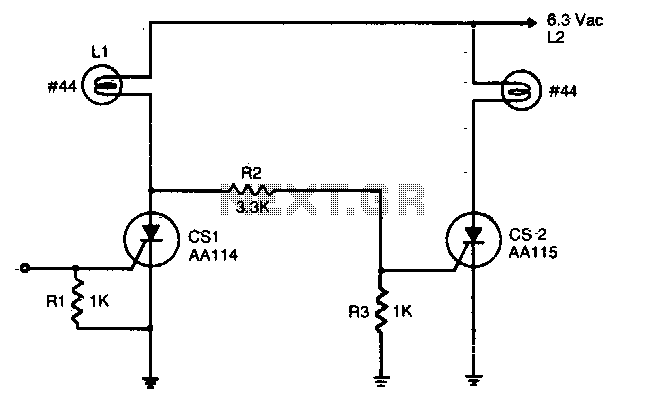 Complementary AC power switching - schematic