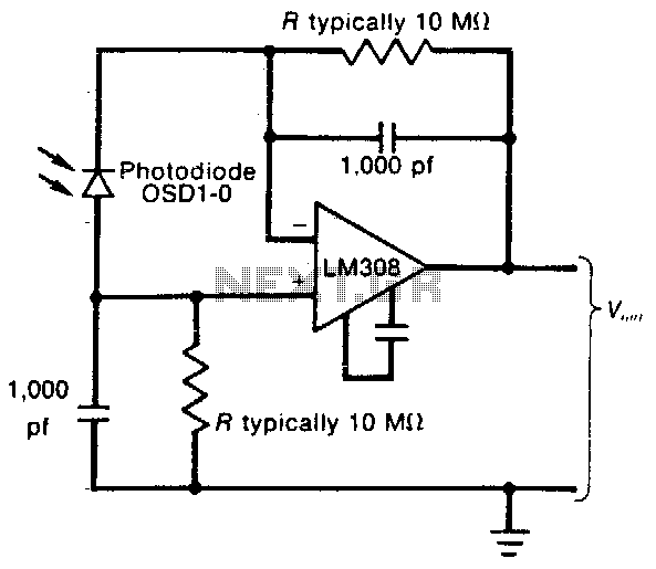 Linear light-meter circuit - schematic