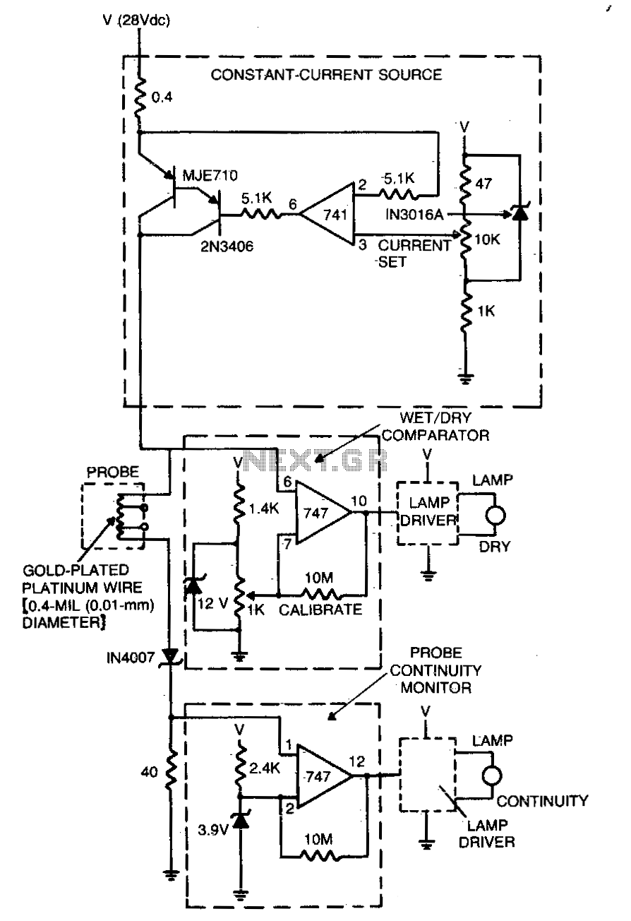 Level sensor for cryogenic fluids - schematic