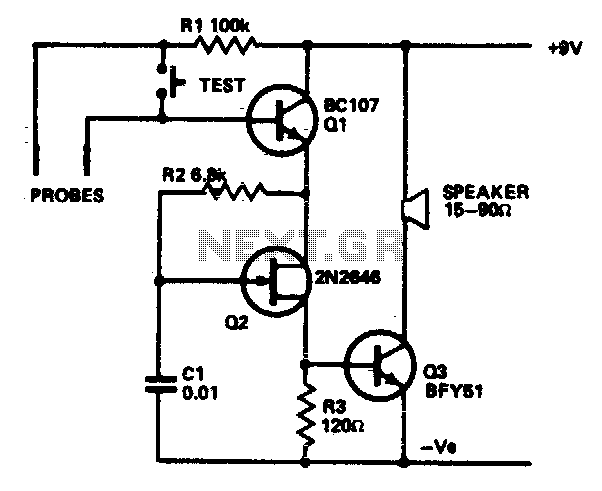 Water level alarm - schematic