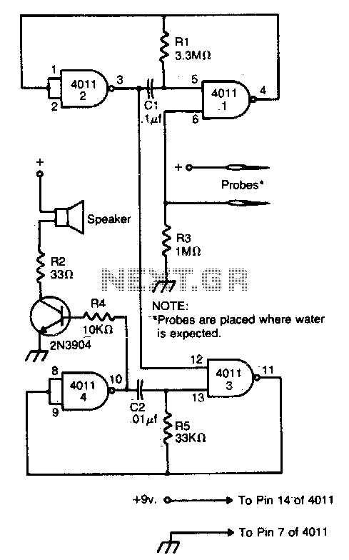 Flood alarm - schematic