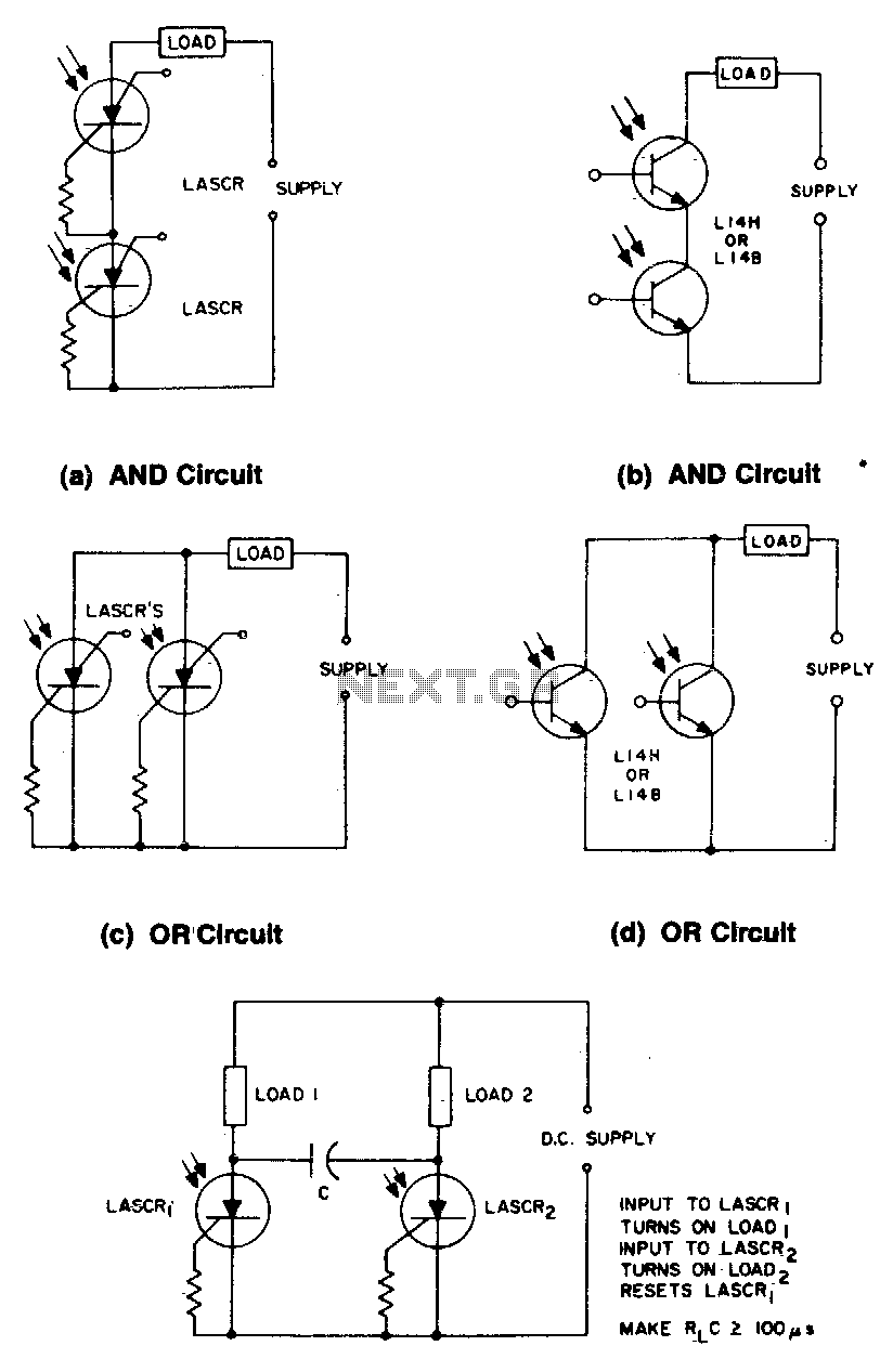 Light activated logic circuits
