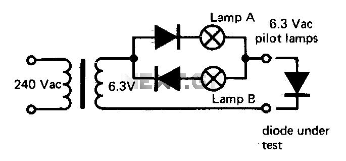 Go no-go diode tester - schematic