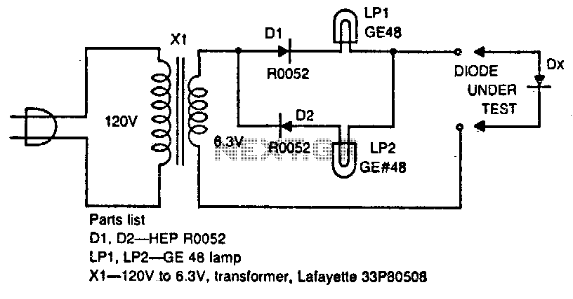 Diode tester - schematic