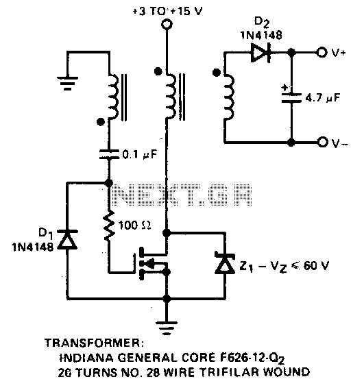 Positive input-negative output charge pump - schematic