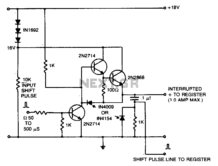 Shift register driver - schematic