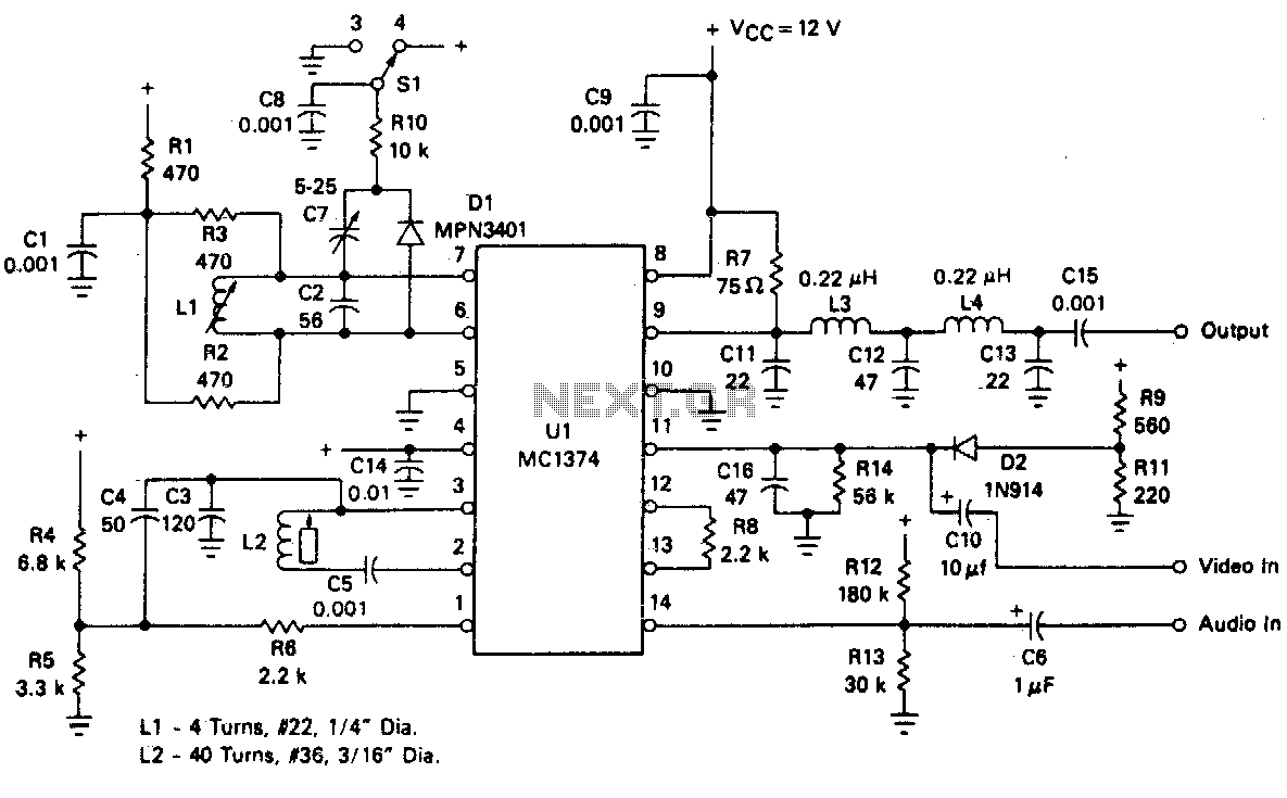 video modulator circuit video circuits next grvideo modulator circuits tv modulator · tv modulator