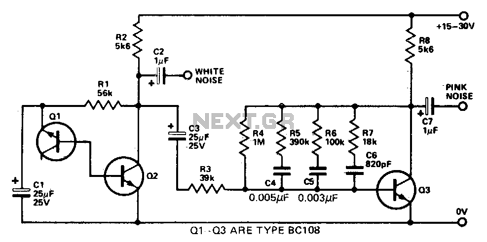 audio noise generator under musical  u0026 effects circuits