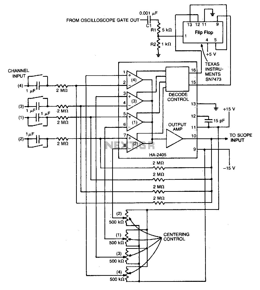 Oscilloscope converter - schematic