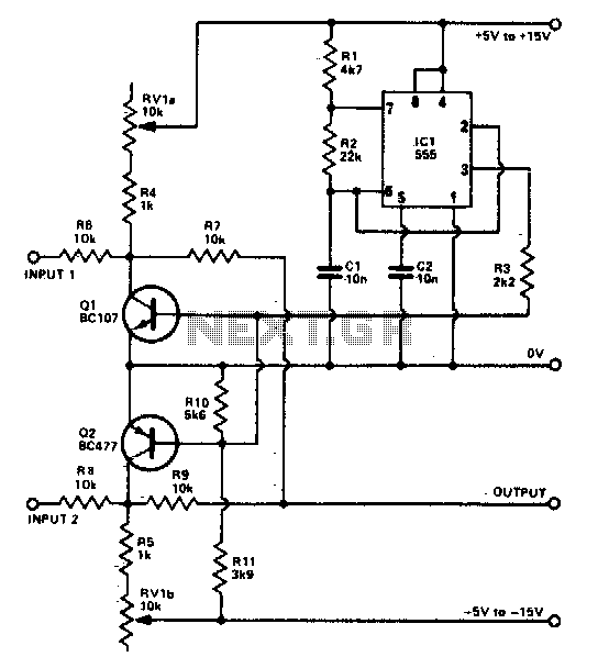 Beam sputter for oscilloscope - schematic