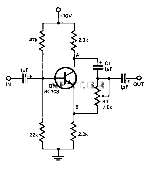 Single transistor phase shifter - schematic