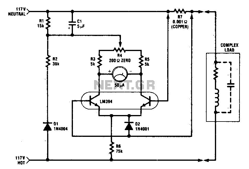 Power meter 1KW - schematic
