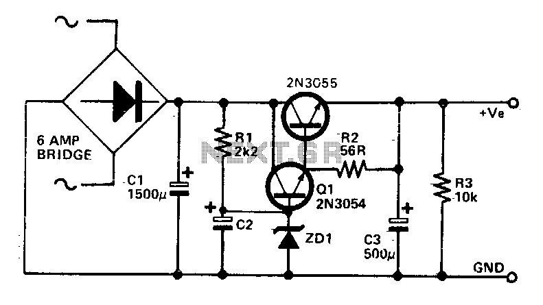 low ripple power supply under ac