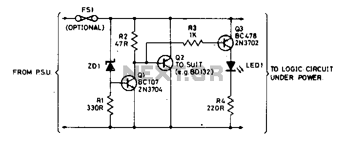 Overvoltage protection for logic - schematic