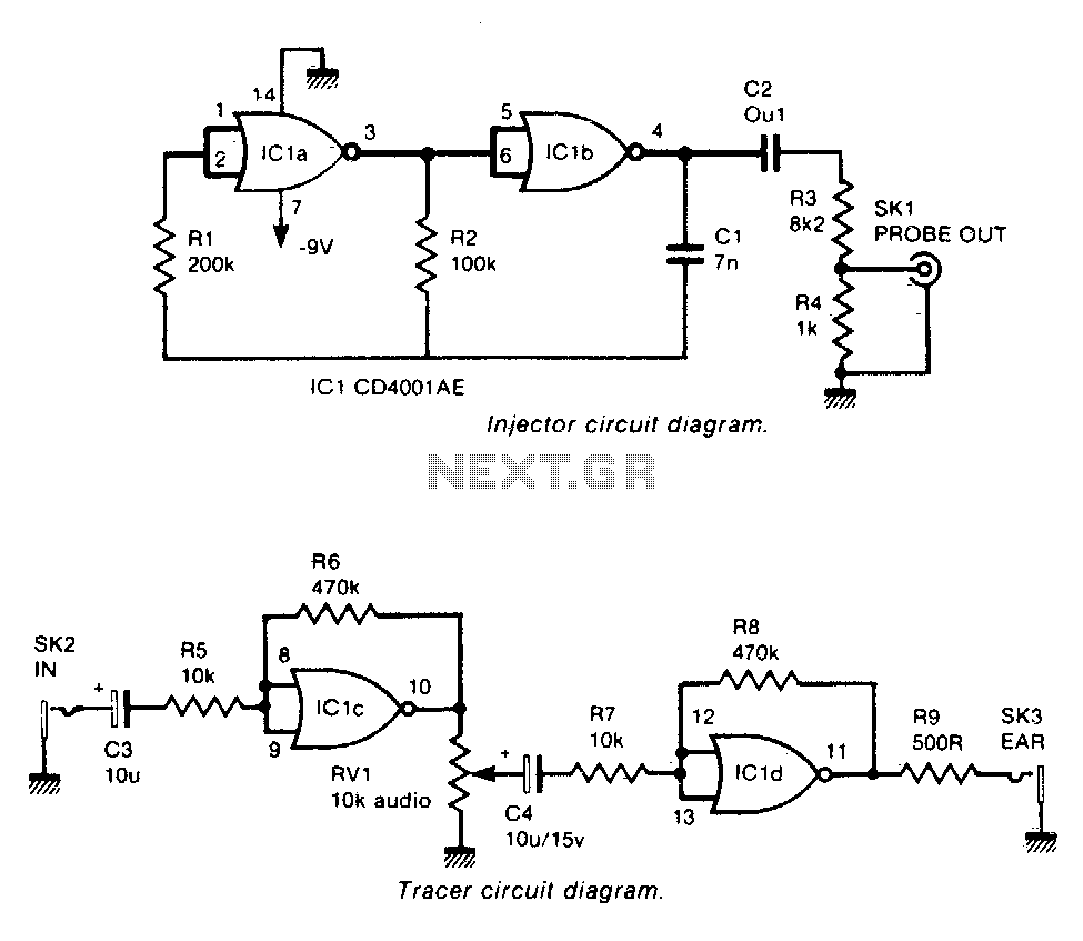 Signal injectoh-tracer - schematic
