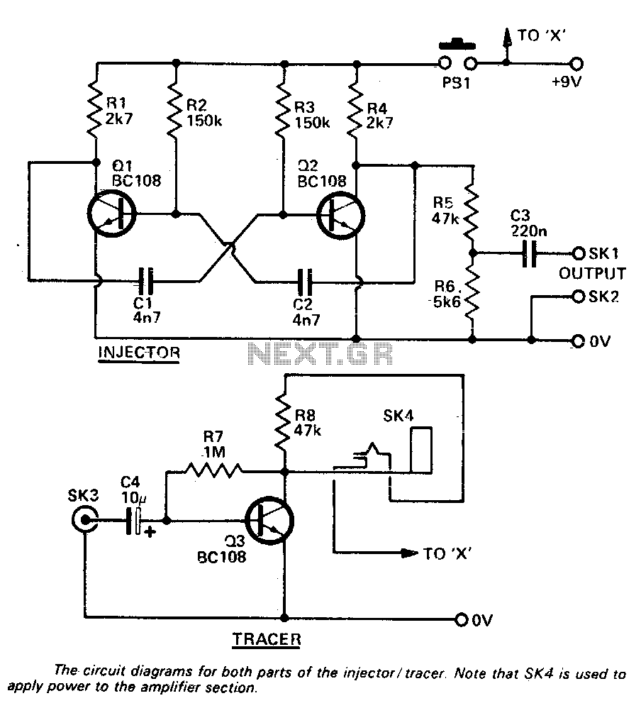 Injector-tracer - schematic