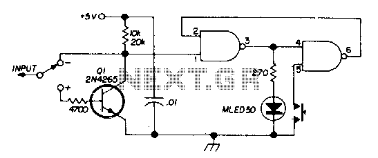 Logic test probe with memory - schematic