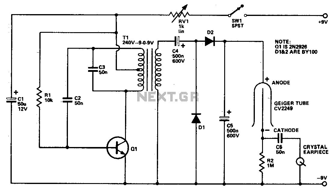 Geiger counter - schematic