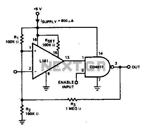Cmos line receiver - schematic