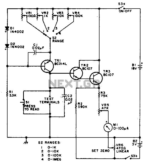 Ohmmeter Circuit Resistor : Ohmmeter scale resistance