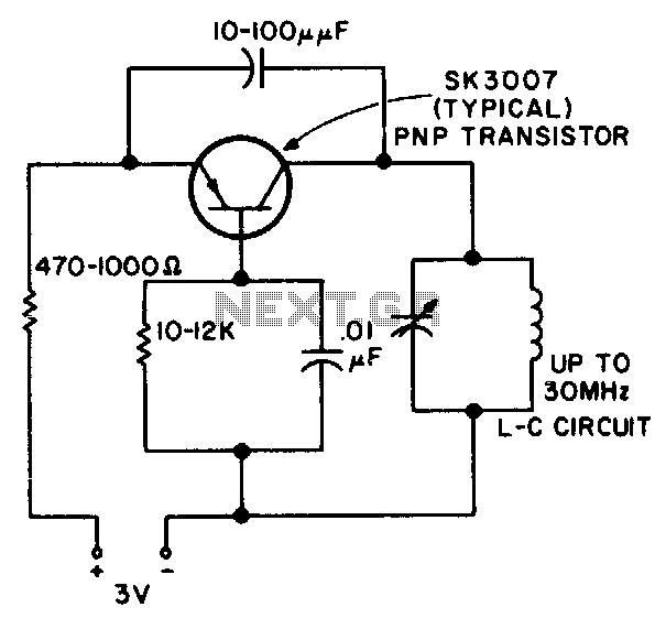 Rf oscillator - schematic
