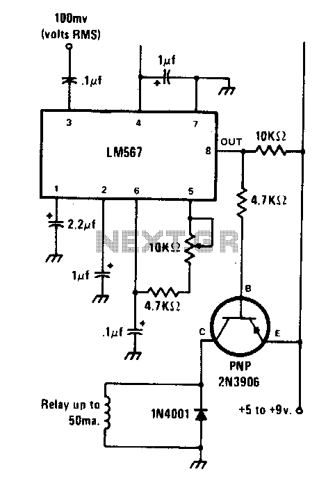 Tone-actuated relay