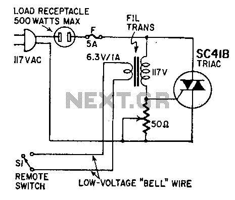 Remote on-off switch - schematic