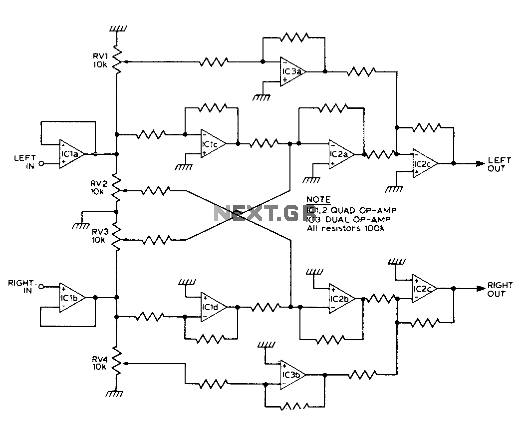 Four channel synthesizer - schematic