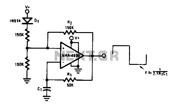 Oscillator-clock generator - schematic