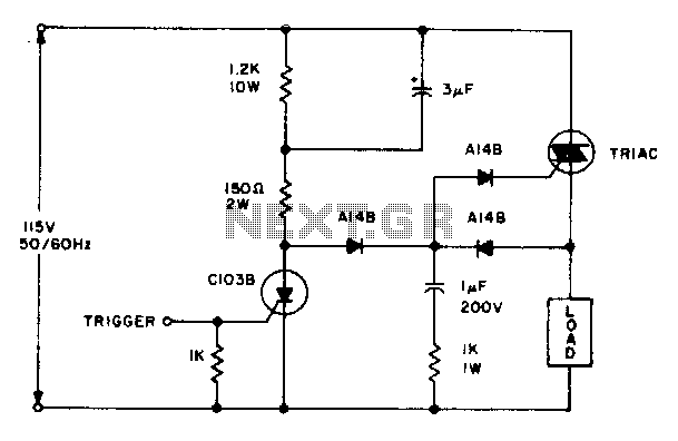 Triac zero voltage switching - schematic