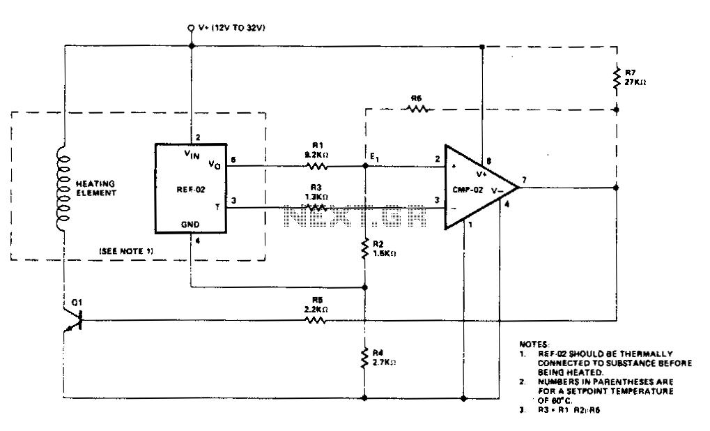 Temperature controller - schematic