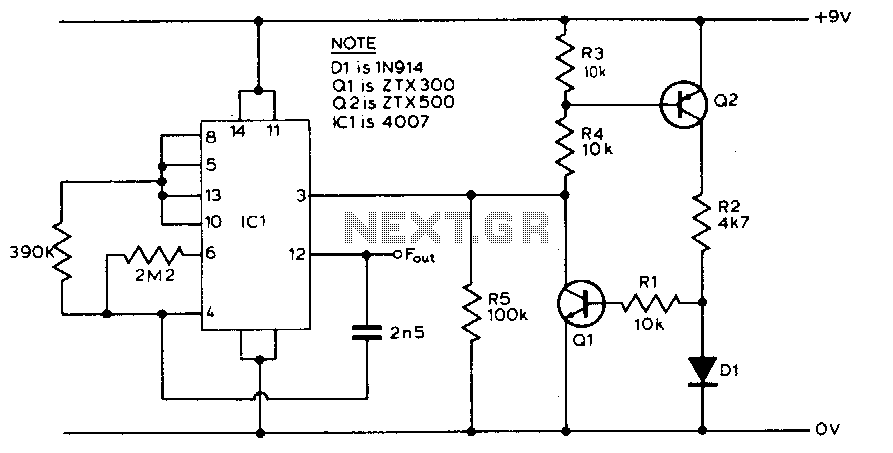 Temperature-to-frequency converter