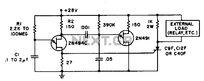 Precision solid state time delay circuit - schematic