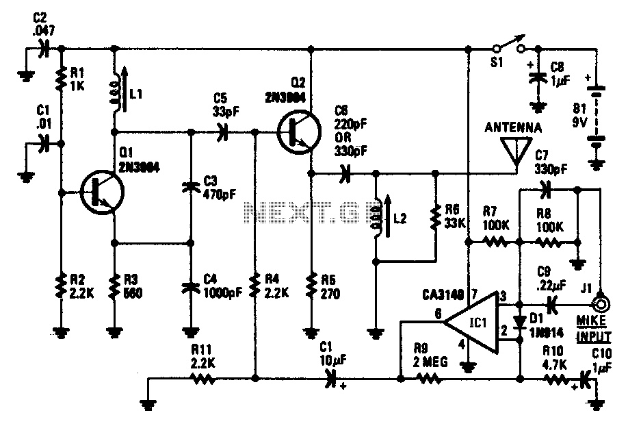 Wireless am microphone - schematic