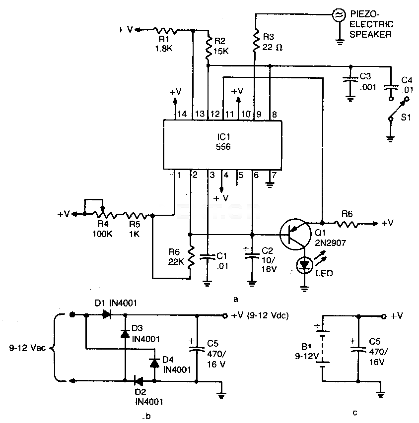 Ultrasonic pest repeller - schematic