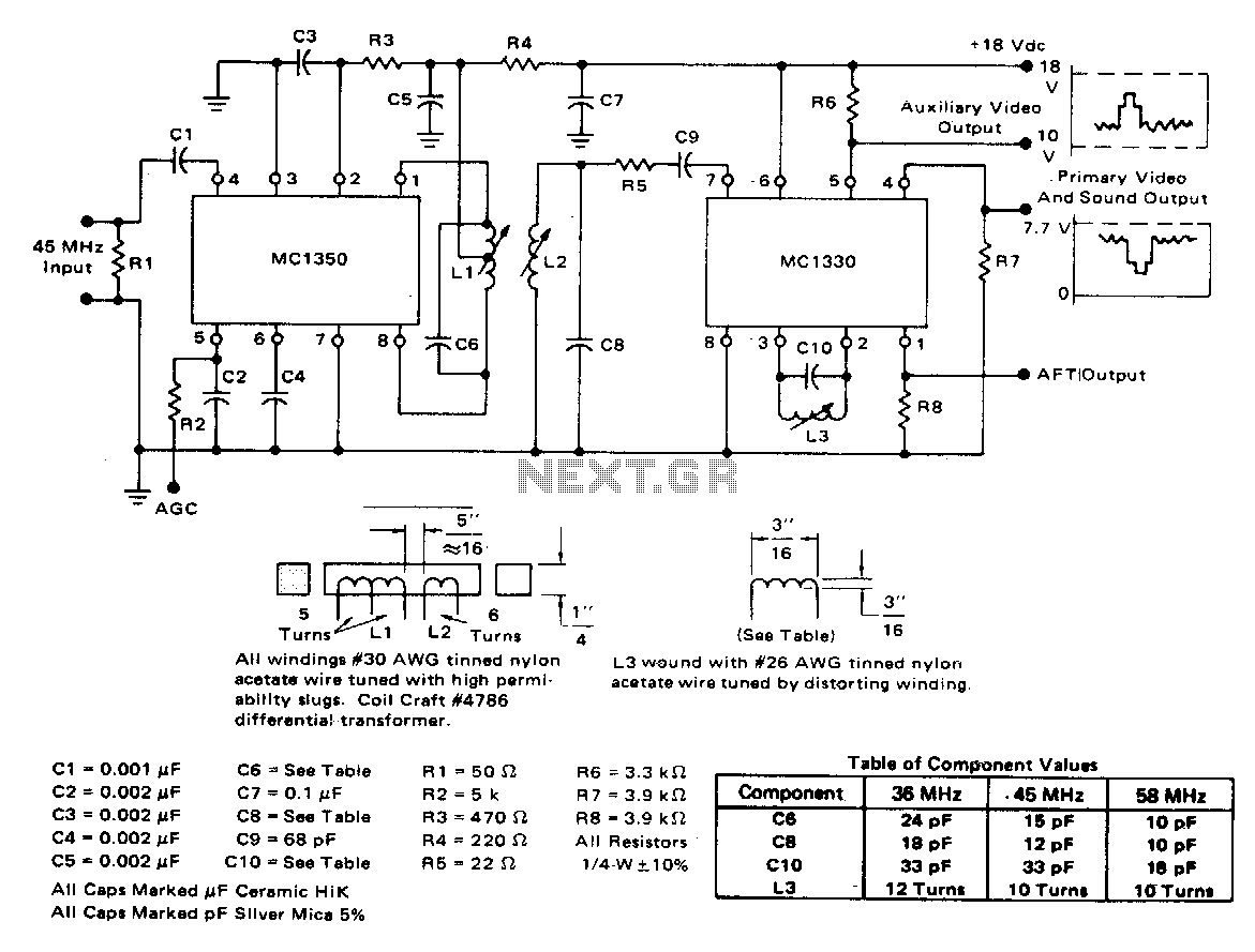 Video Amplifier Circuit Circuits Op Amp And Detector