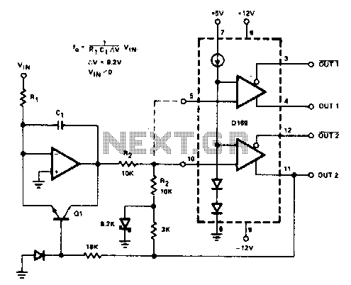 Voltage-to-frequency converter - schematic