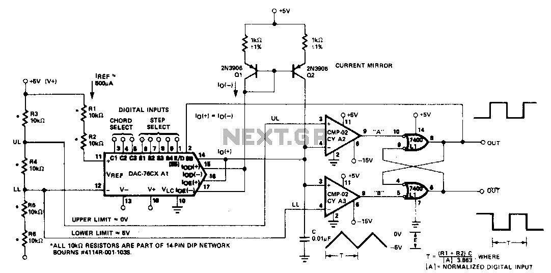 Digitally-controlled oscillator - schematic
