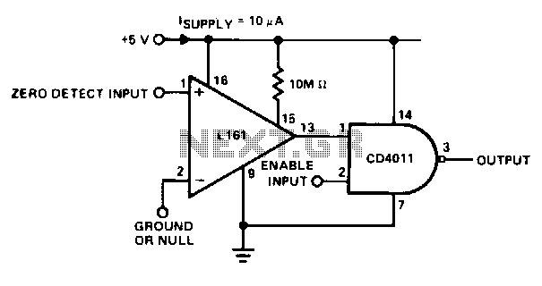 Zero crossing detector - schematic