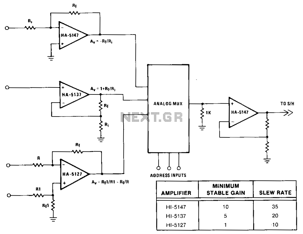 Buffer-amplifier-for-multiplexers - schematic