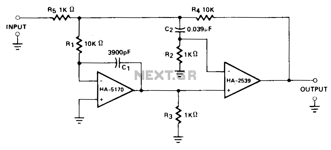 Composite-amplifier - schematic