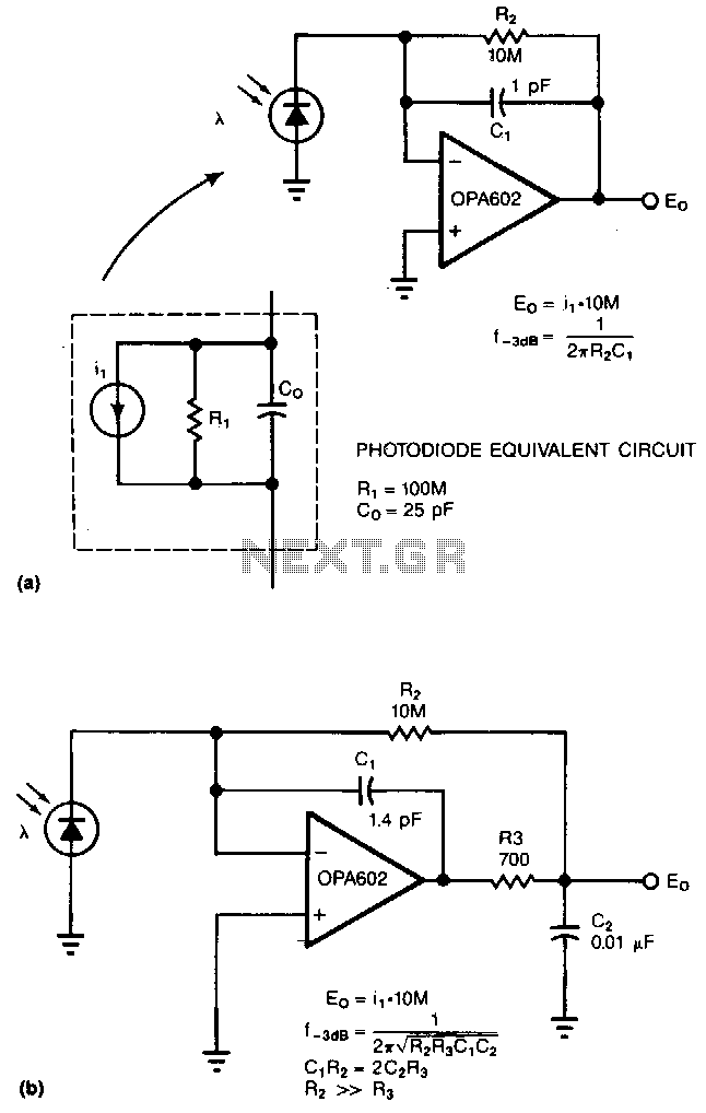 Photodiode-amplifier - schematic