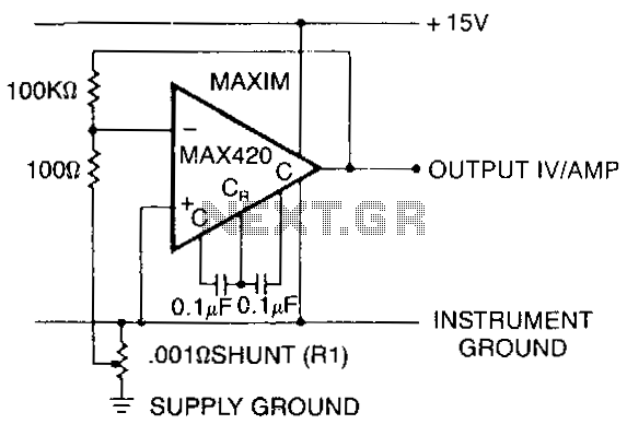 current-shunt-amplifier under buffer circuits